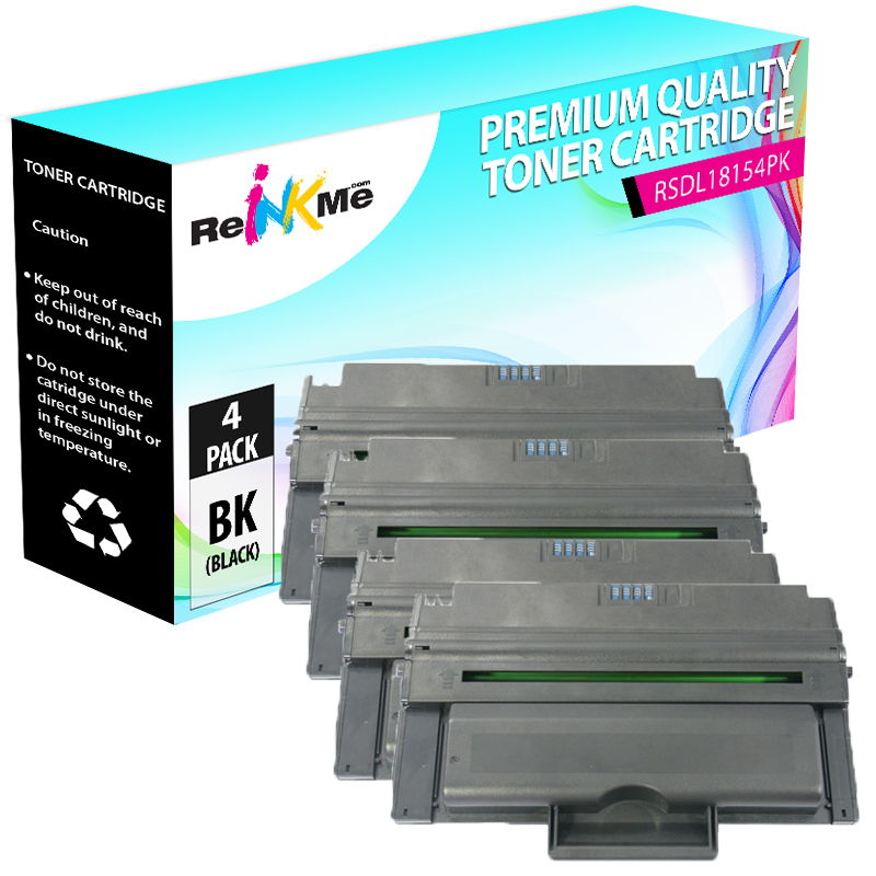 2PK 1815 Black Toner cartridge Generic For Dell Laser Printer 1815 1815dn